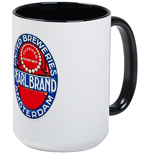 CafePress - Holland Beer Label 12 Large Mug - Coffee Mug, Large 15 oz. White Coffee Cup