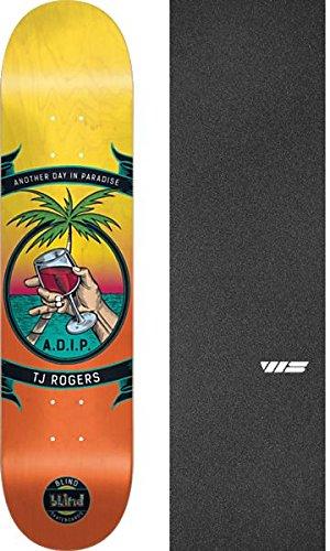 ヘロインリフトうめき声Blind Skateboards TJ Rogersバッジスケートボードデッキ樹脂7 – 8.25