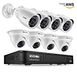 ZOSI 720p HD-TVI Home Security Camera System Full HD, 8 Channel CCTV Dvr...