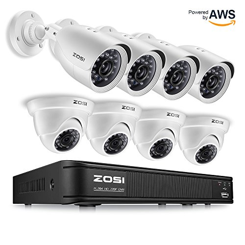 Ir Camera Power Usb Dvr - ZOSI 720p HD-TVI Home Security Camera System Full HD, 8 Channel CCTV Dvr Recorder and (8) HD 1.0MP 1280TVL Surveillance Cameras Outdoor/Indoor with Night Vision, Motion Detection (No Hard Drive)
