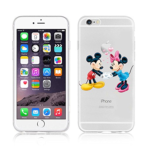 NEW DISNEY CARTOONS TRANSPARENT CLEAR TPU SOFT CASE FOR APPLE IPHONE 7 MICKEY & MINNIE