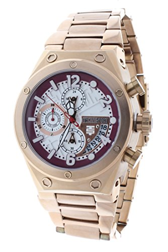 Technosport TS-820-8 Men's Rose-Tone Stainless Steel Watch Swiss Chronograph 24-Hour Subdial