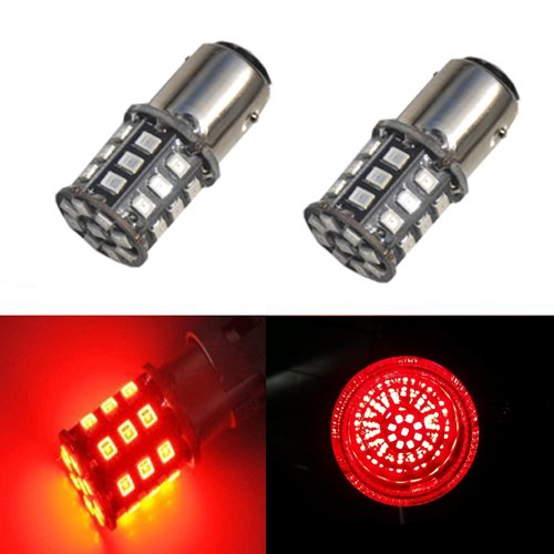 JDM ASTAR AX-2835 Chipsets 1157 2057 2357 7528 LED Bulbs For Brake Lights Tail lights Turn Signal, Brilliant Red
