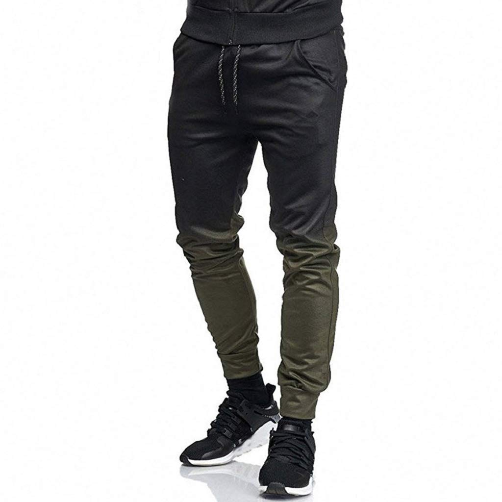 10f7af335948d9 Amazon.com: Photno Men's Slim Fit Pants Casual Colorblock Joggers  Sweatpants Loose Big and Tall Sports Trousers with Pockets: Clothing