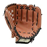 FerDIM Baseball Glove Teeball Glove for Youth/Kids 10.5 Inch Right Hand Throw, Left Hand Glove (Ages 9 to 12) (Brown)