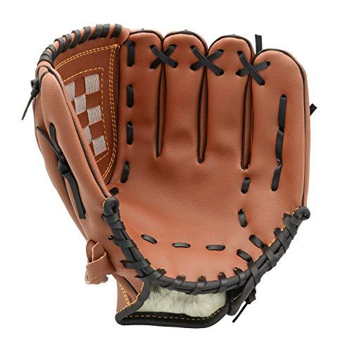 - FerDIM Baseball Glove Teeball Glove for Youth/Kids 10.5 Inch Right Hand Throw, Left Hand Glove (Ages 9 to 12) (Brown)