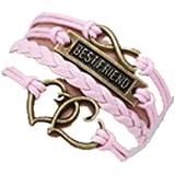 TBOP RAKHI WRISTBANDS Best Friend multi-layer love infinity bracelet 16cm+5cm for unisex