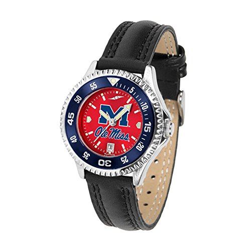 Competitor Watch Rebels - Mississippi Rebels Competitor AnoChrome Women's Watch - Color Bezel