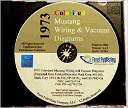 1973 ford mustang wiring & vacuum diagrams & schematics cd - includes  mustang, mustang mach 1, grande, coupe, convertible 73 multimedia cd – 2008