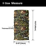 AXBXCX 2 Pack - Camouflage Camo Print Seamless Neck Gaiter Bandana Face Mask Headband Headwear Sweatband Wristband Scarf for Fishing Hiking Hunting Cycling Motorcycle Riding Skiing Outdoor Sport 051