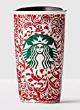 Starbucks Double Wall Travel Mug, Candy Cane Design 12 oz.