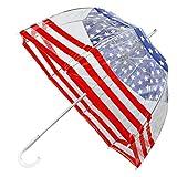 totesSignature Clear Bubble Umbrella, Stars and Stripes