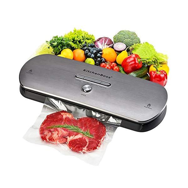 Macchina Sottovuoto per Alimenti KitchenBoss Sottovuoto Macchina Vacuum Sealer Professionale Automatica Portatile con… 1