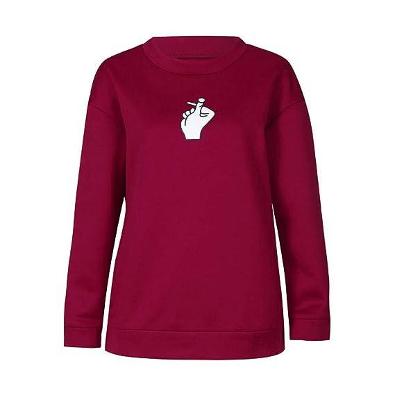 Amazon.com: ZJSWCP Sweatshirt Casual Women Autumn Fashion Long Sleeve O-Neck Printed Sweater Blouse Tops Shirt Sweaters Sudaderas para Mujer 30: Clothing