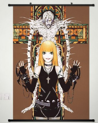 Death Note Wall Scroll Poster Fabric Painting For Anime Misa Amane & Rem 015 - Wall Misa Scroll