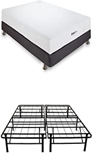 Classic Brands Cool Gel Memory Foam 8-Inch Mattress with Hercules 14-Inch Heavy-Duty Metal Platform Bed Frame, Twin