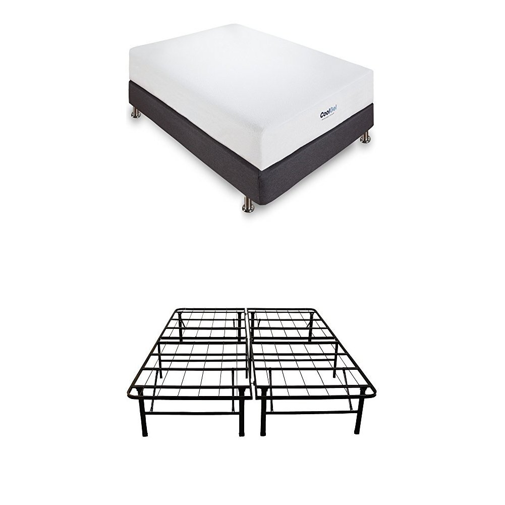 Classic Brands Cool Gel Memory Foam 8-Inch Mattress with 8-Inch High Profile Instant Foundation, Full