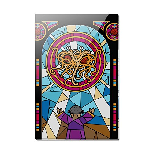 (Flying Spaghetti Monster Stained Glass Rectangle Acrylic Fridge Refrigerator Magnet )