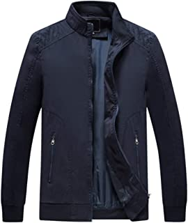 FeiBeauty Herren Einfarbig Große Größe Mode Jacke Windbreaker Stehkragen Zip Jacke
