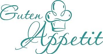 GRAZDesign 620591_30_054 Wandtattoo Küche Guten Appetit mit Mütze |  Küchen-Aufkleber und Tattoo für Deine Wände - Schränke - Fliesen - Möbel |  ...