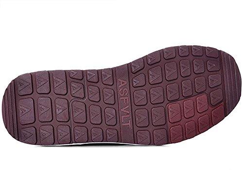 Asfvlt - Zapatillas de Material Sintético para hombre Amaranto