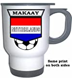Roy Makaay (Netherlands/Holland) Soccer White Stainless Steel Mug