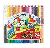 Amos Premium Non-toxic Silky Crayon Pasnet 24 Colors