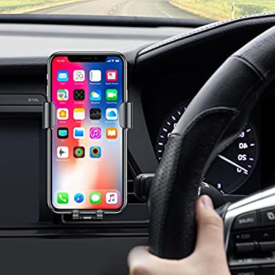 Wireless Car Charger,Fast Qi Wireless Charging & Air Vent Phone Holder for iPhone8,8Plus,iPhone X, Samsung Galaxy S8,Car Charger (Air Vent+Dashboard+Windshield) (W-001)