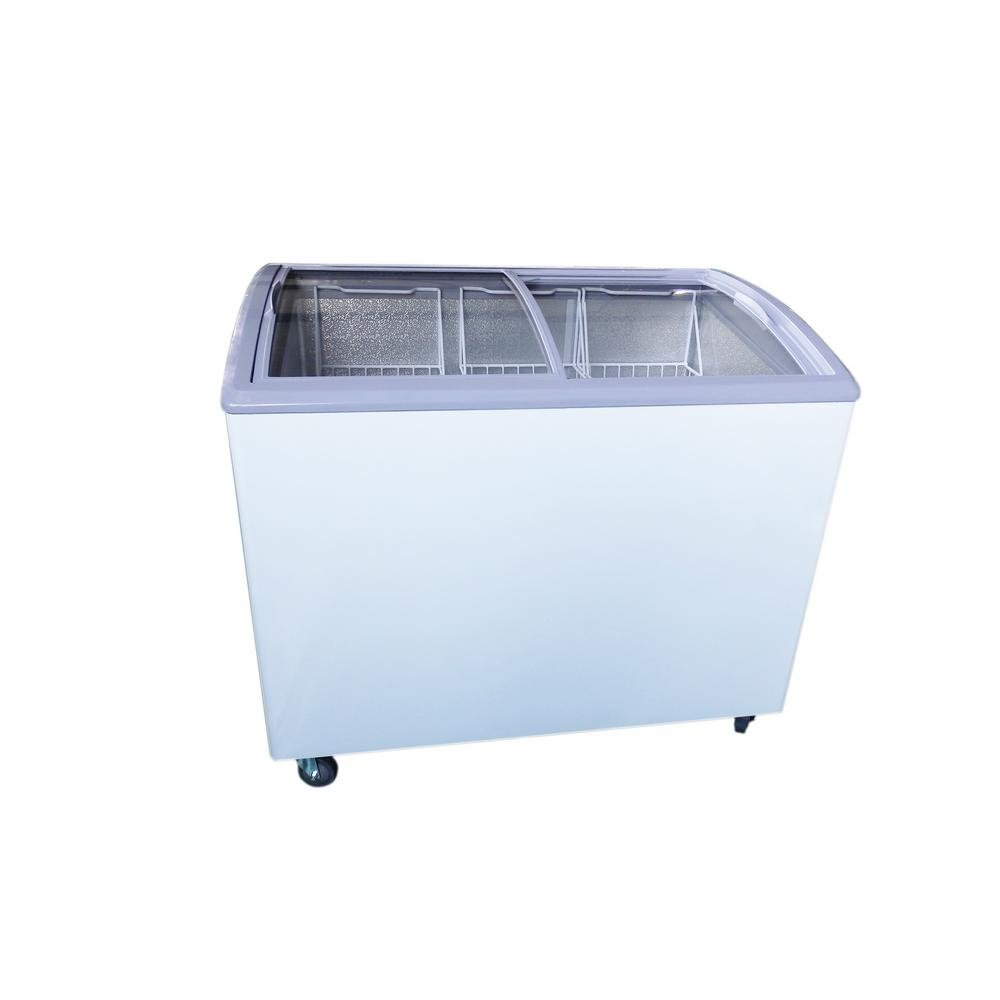 Premium PFR740G 7.4 cu. ft. Chest Freezer with Curved Glass Top in White