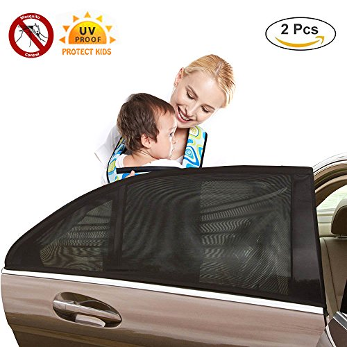 43' Seat (Universal Fit Car Side Window Baby Sun Shade (2 Pack),Prevent 97% Harmful UV Rays Protection for Your Child,Fit Most Cars and SUVs)