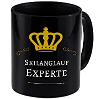 Tasse Skilanglauf Experte schwarz