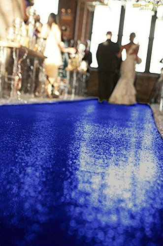 ShinyBeauty Blue-Aisle Runner-50FTX4FT,Glitter Sequin Wedding Aisles Floor Runner,Sparkle Carpet Runner (Blue) by ShinyBeauty