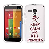Motorola Moto G Falcon XT1032 1st Gen 2013 Case, Fincibo (TM) Protector Cover Snap On Hard Plastic, Keep Calm and Kill Zombies
