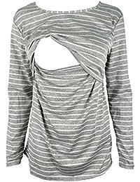 Breastfeeding Shirt Long Sleeve Maternity Breastfeeding and Nursing Tops