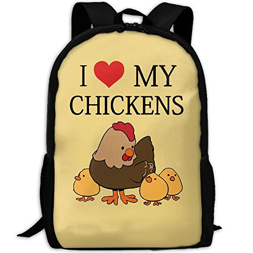CY-STORE Cute Animal I Love Chickens Outdoor Shoulders Bag Fabric Backpack Multipurpose Daypacks For Adult by CY-STORE