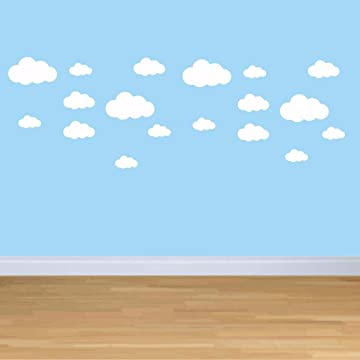 Todens Cloud Wall Stickers Children Bedroom Nursery Wall Decal Home Decoration