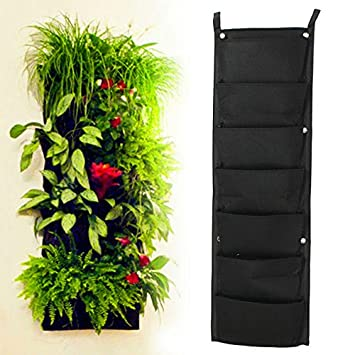 7 Pocket Neu Filz 1 Stuck Outdoor Vertikal Garten Blumentopfe Und