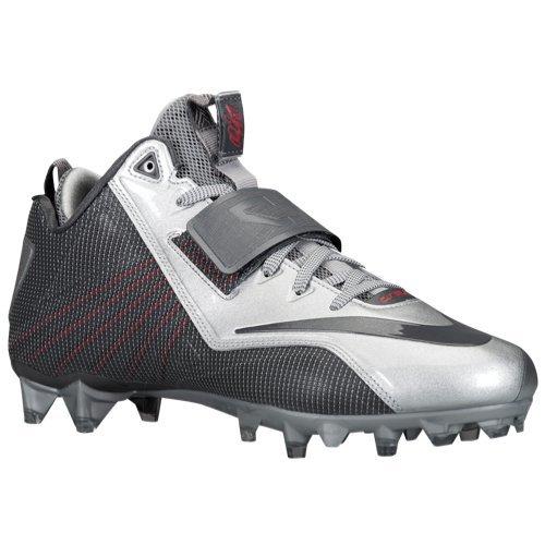 aef9e3593 Nike CJ Elite 2 TD MID Football Cleats 643195-006 Mens 9.5 Gray ...