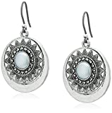 Lucky Brand Pearl Circle Drop Earrings