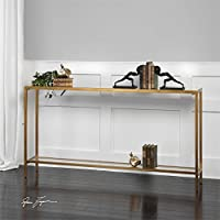 Hayley Gold Console Table Designed by Matthew Williams
