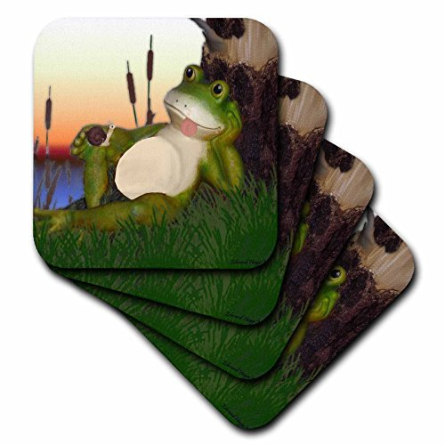 Frog Tile (3dRose cst_28288_3 The Frog and The Snail-Ceramic Tile Coasters, Set of 4)