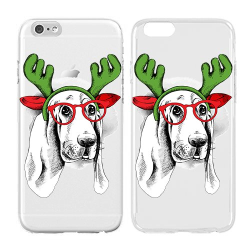 Christmas Iphone Case, Cool Christmas Gifts, Puppy Soft Flexible Transparent Skin, Scratch Proof Protective Slim Case for iPhone 5C