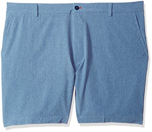 IZOD Men's Big and Tall Advantage Performance Hybrid Short, Moonlight Blue, 44 by IZOD
