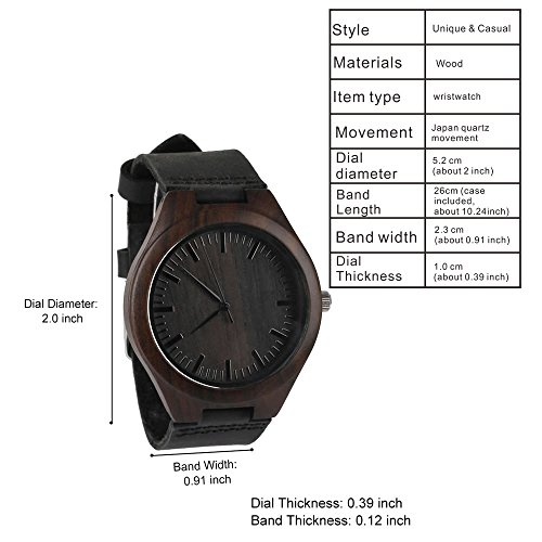 Engraved Wooden Wrist Watch - Until The End of Time - Unique Wedding Anniversary Gifts for Husband Boyfriend