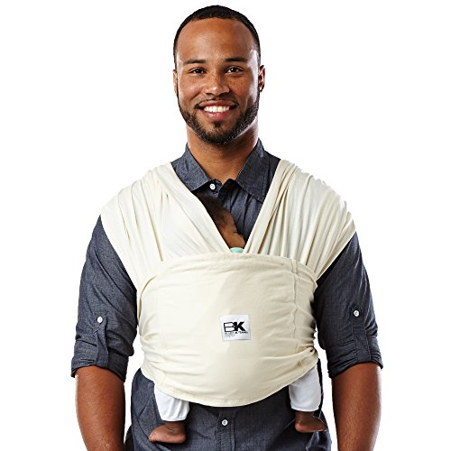 Baby K'tan Organic Baby Wrap Carrier, Infant and Child Sling - Simple Wrap Holder for Babywearing - No Rings or Buckles - Carry Newborn up to 35 lbs, Natural, S (W dress 6-8 / M jacket 37-38)