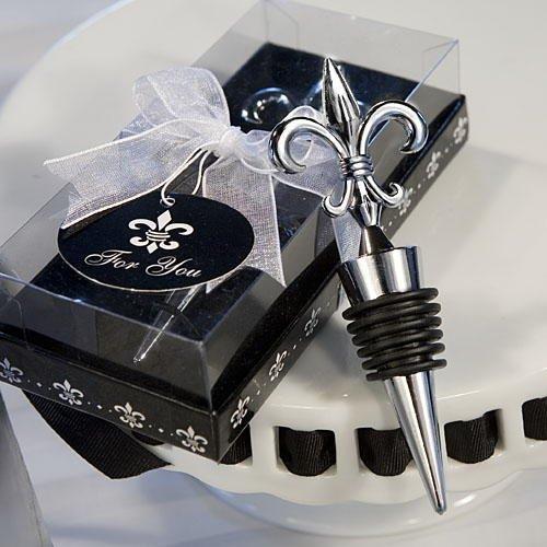 Fleur De Lis Design Wine Bottle Stopper Wedding Favors, 40