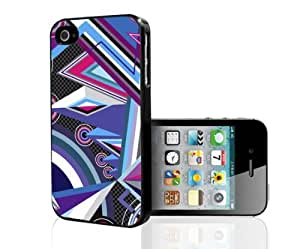 Cool Purple and Pink and Blue Design Hard Snap on Case (iPhone 4/4s)