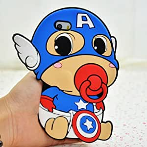 iPhone 6 Case, Palettes Maxx - Baby Infant Standard Nipple America The Leader Avengers Captain Style Super Hero Gangs Silicone Rubber Case for iPhone 6 4.7 inch by Maris's Diary