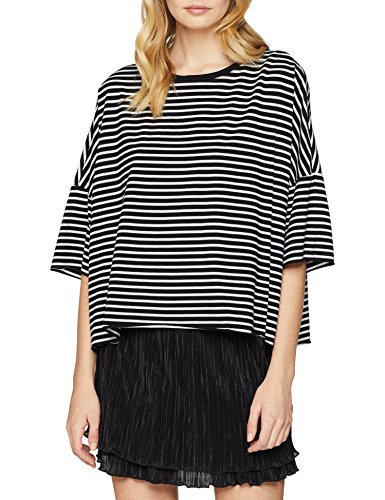 Caden Blusa Dr Donna Schwarz 144 Denim Top Stripe black Swwpz