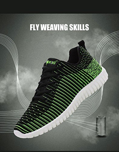 Point Sneakers Hiver Mens Earsoon Bleathable Facilement Flyknit Formation De a85w5Cq7